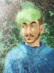 Jacksepticeye - colored portrait
