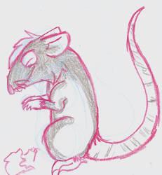 Pink outline rat by eritnger1000