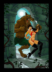 Vampirella and the WolfMan- for #februwolfy