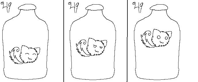 Animation Base: Kitty Jar by potatokitty49