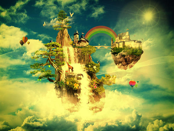 Floating Castle by Oce...