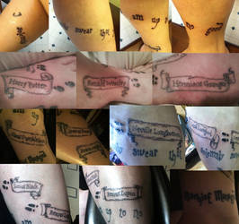 My Marauder's Map Tattoo