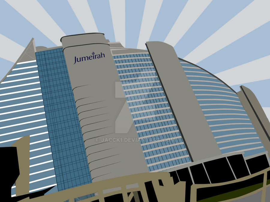 Jumeirah Beach Hotel Vector By Jacck1