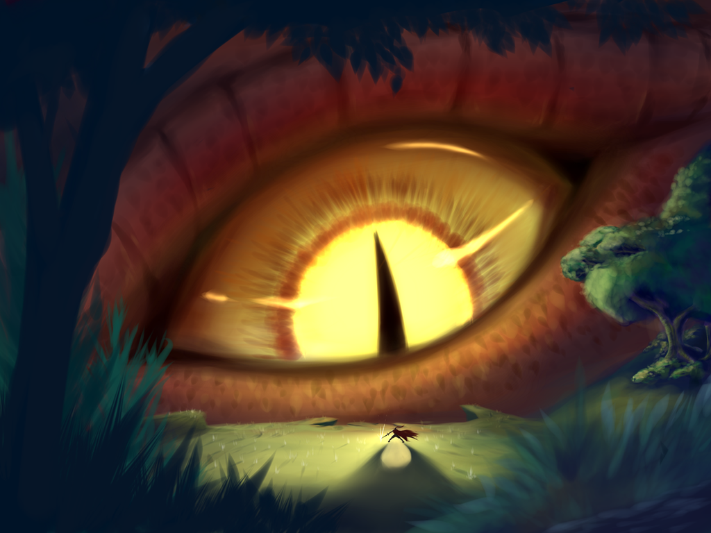 COMMISSION: Eye of the Dragon by Prissjoy