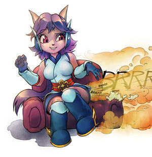 Dragon girl commission