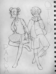 Otaku and Panda Fanart