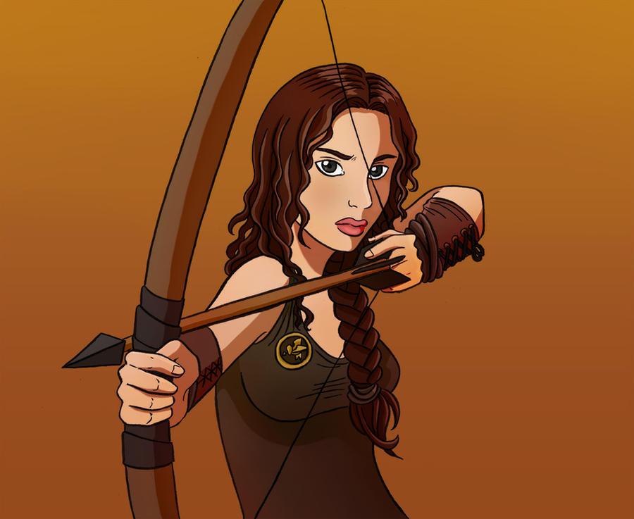 Katniss Everdeen by the-winter-girl