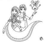 Sister Forever (Frozen lineart) by the-winter-girl