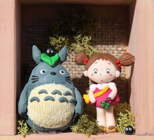 Totoro and May clay