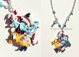 Alice in Wonderland clay by tanadelbianconiglio