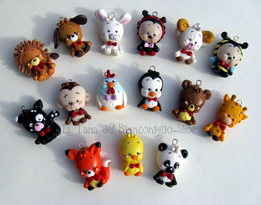 Animals clay by tanadelbianconiglio