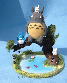 Totoro on lake