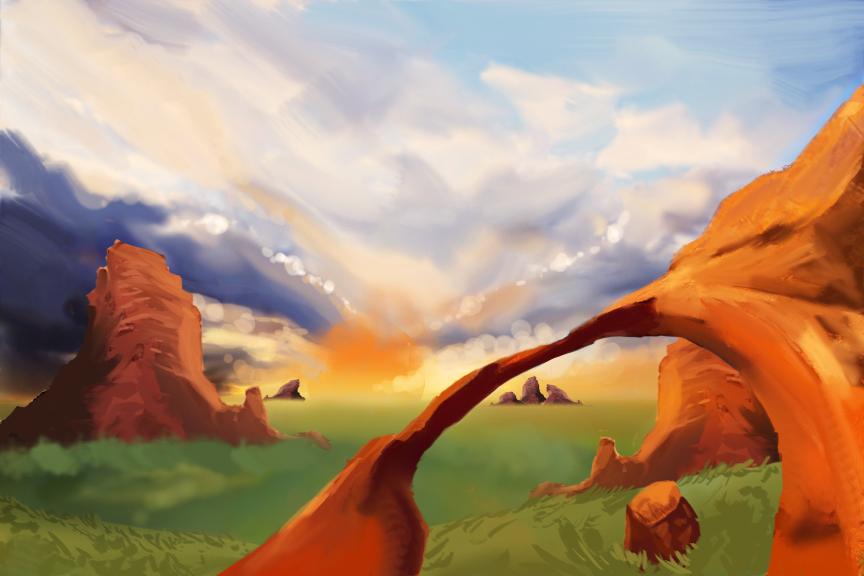 Red Rocks by dragonsyth1