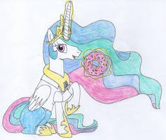 Cosplay Ponies: Princess Celestia as Homer Simpson