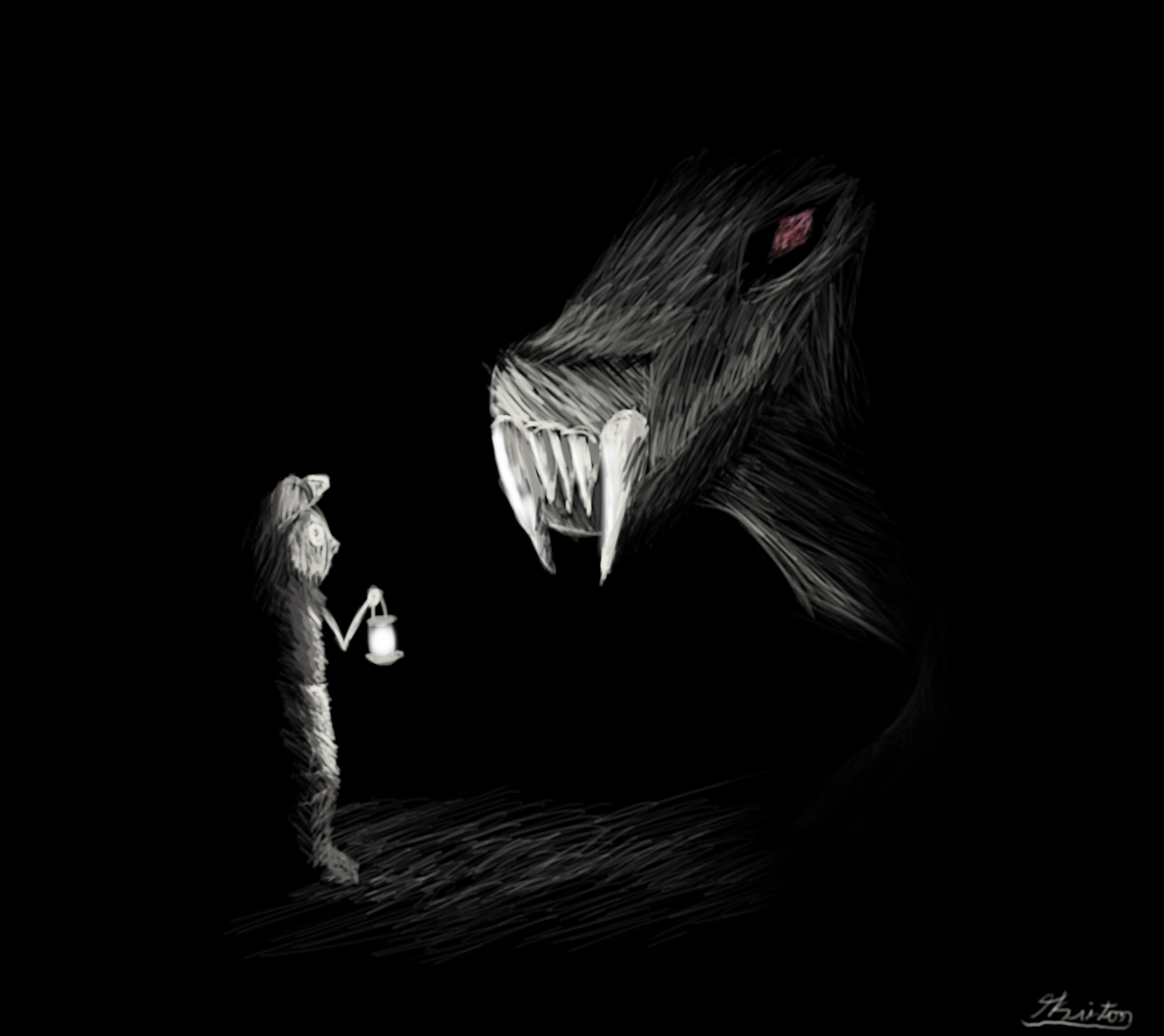 What hides in the dark by Cotton-Katze