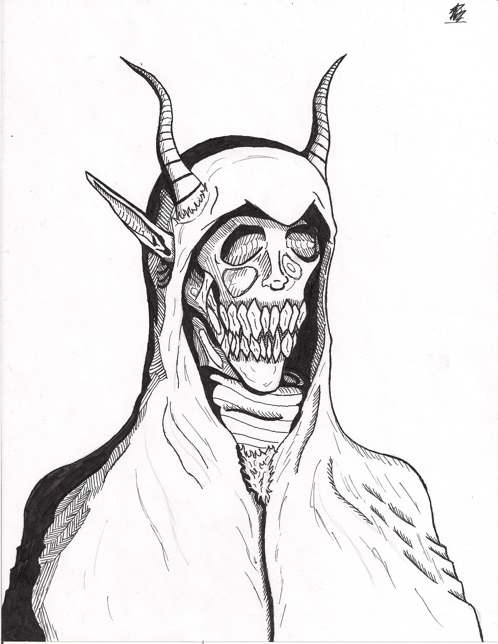 Demon Portrait by Cotton-Katze
