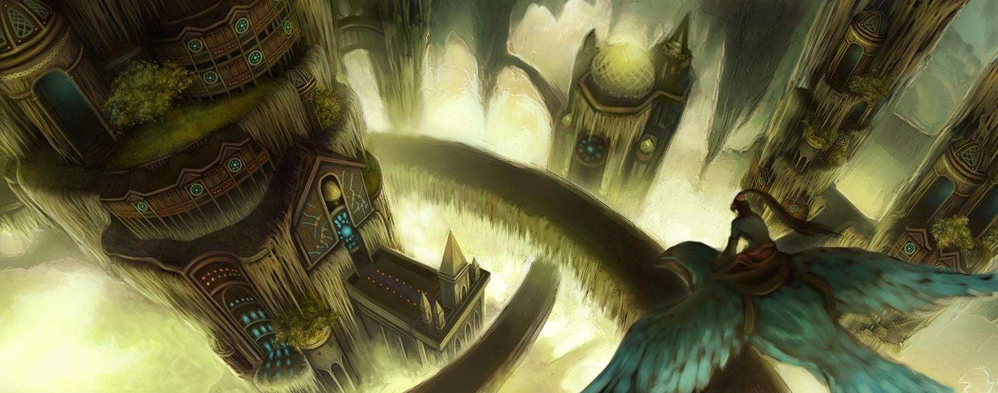 Underground City Concept by Wolfie-chama