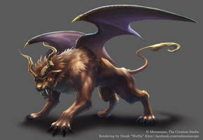Winged Lion by Wolfie-chama