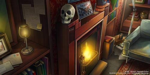 BBC Sherlock: Fireplace