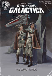 Battlestar Galactica, The Pulp Cover by LeoluxArt