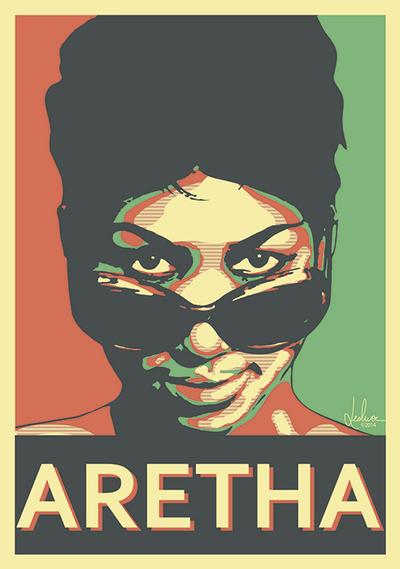 Aretha Franklin by LeoluxArt