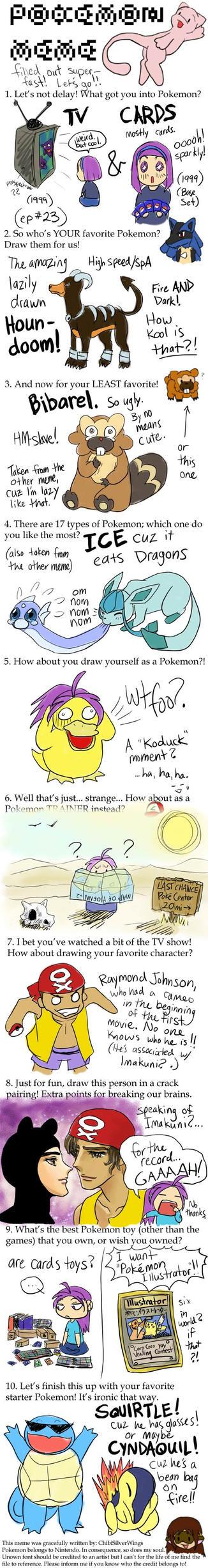 ChibiSilverWings Pokemon Meme by alamedyang