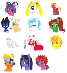 Fandemonium 2013 Pony Commissions