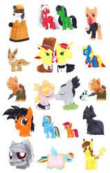 SL Comic Con 2013 Pony Commissions (Fan Art)