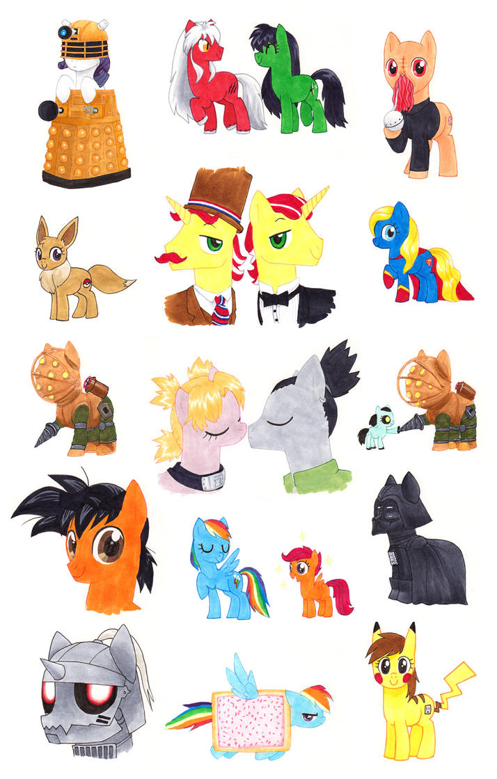 SL Comic Con 2013 Pony Commissions (Fan Art) by alamedyang