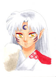 Sesshomaru (Commission from SLCC FanX '14) by alamedyang