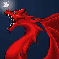 Pixel Dragon Head by pixelnova
