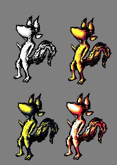 Fox-thing colour exp sheet by pixelnova