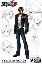 KOFXV - Kyo Kusanagi Concept Art Colored
