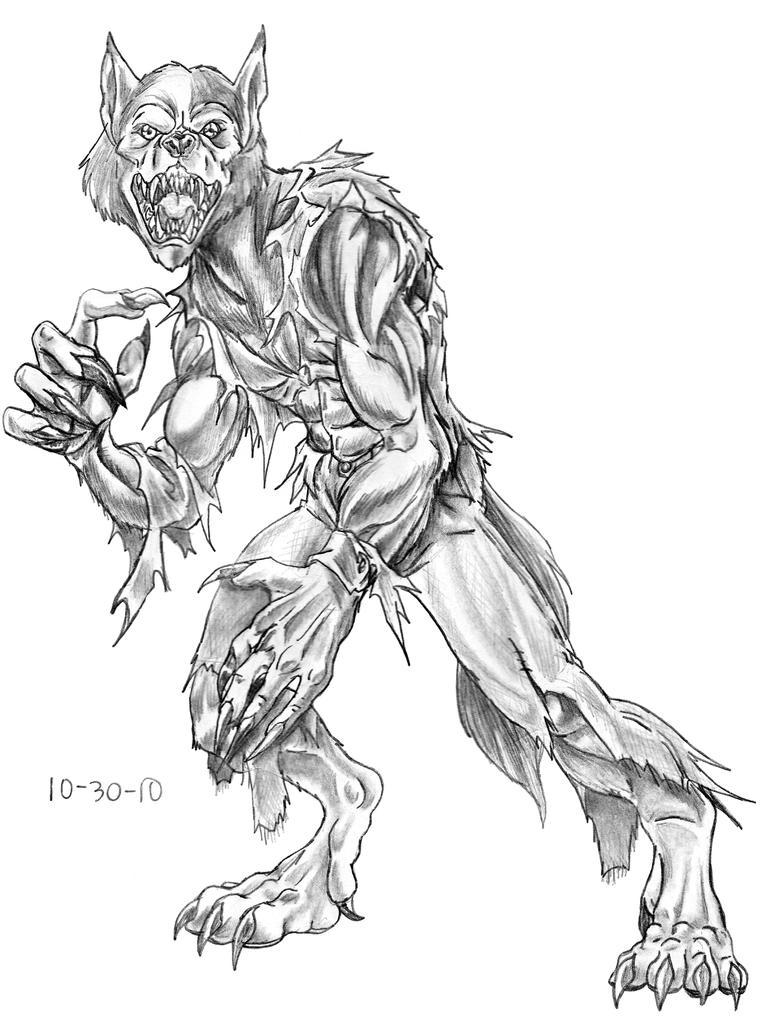 werewolf coloring page - oct 30 werewolf picture oct 30 werewolf image
