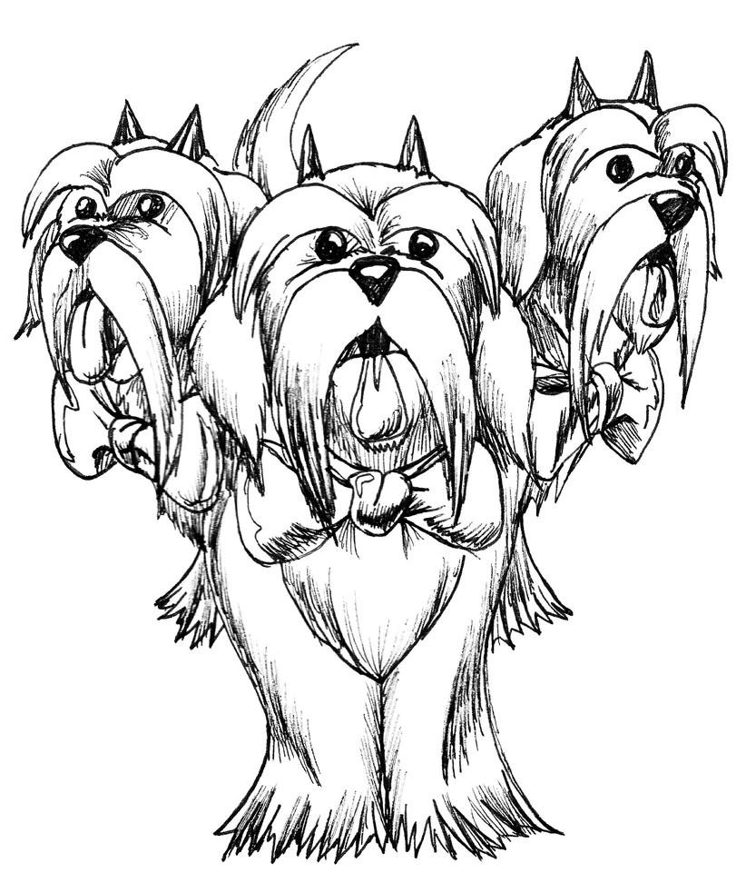 This is a graphic of Trust Shih Tzu Coloring Pages