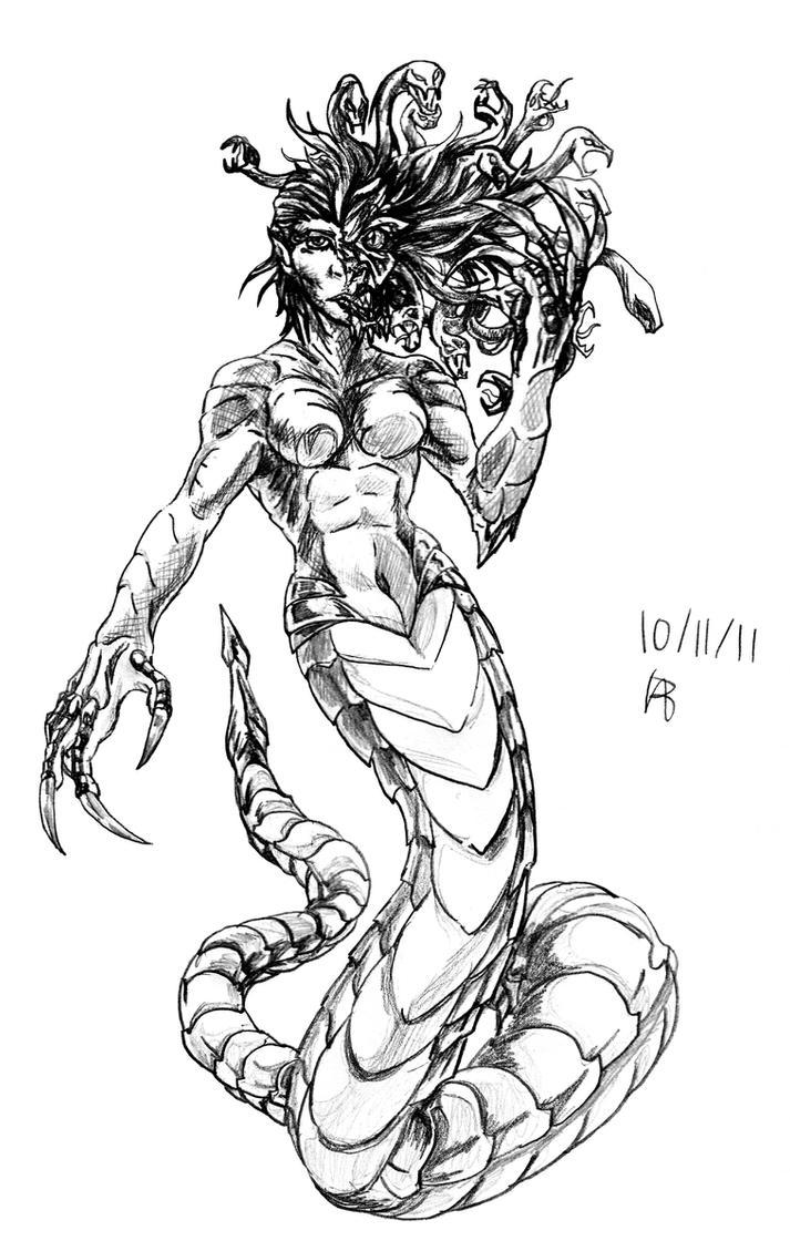 Medusa - October 11 by emeraldfury