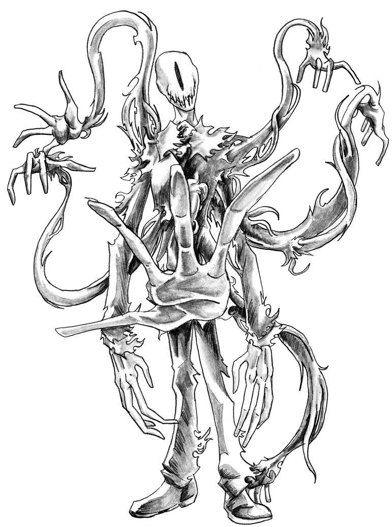 Slender man october 19 by emeraldfury on deviantart for Slender man coloring pages