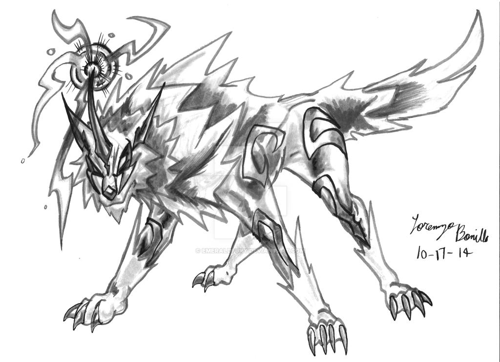 Raiju Oct17 2014 By Emeraldfury On Deviantart This legendary creature is composed o. raiju oct17 2014 by emeraldfury on