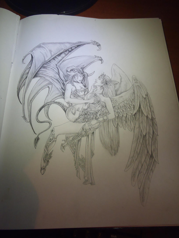 angel and demons drawings - photo #8