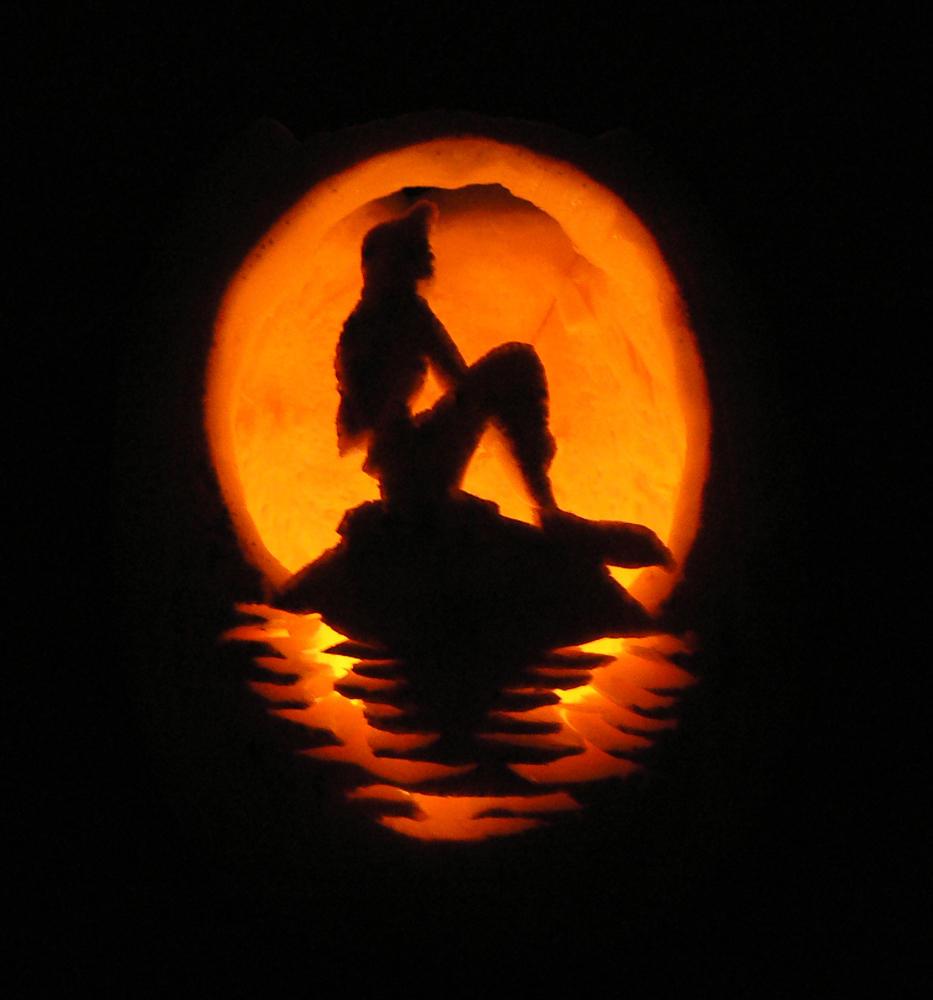 Little Mermaid Pumpkin by StephieT - 472.6KB