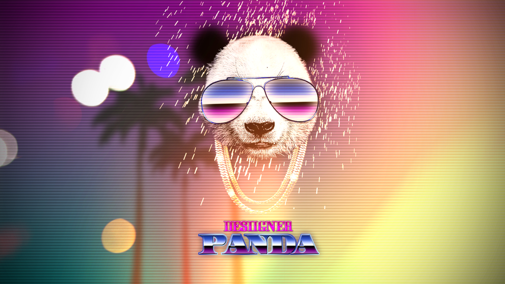 Desiigner Panda Full HD Wallpaper 80s Miami Vibes By Raendum