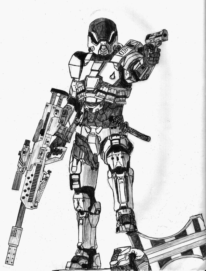Sniper Spartan by Sacrafire