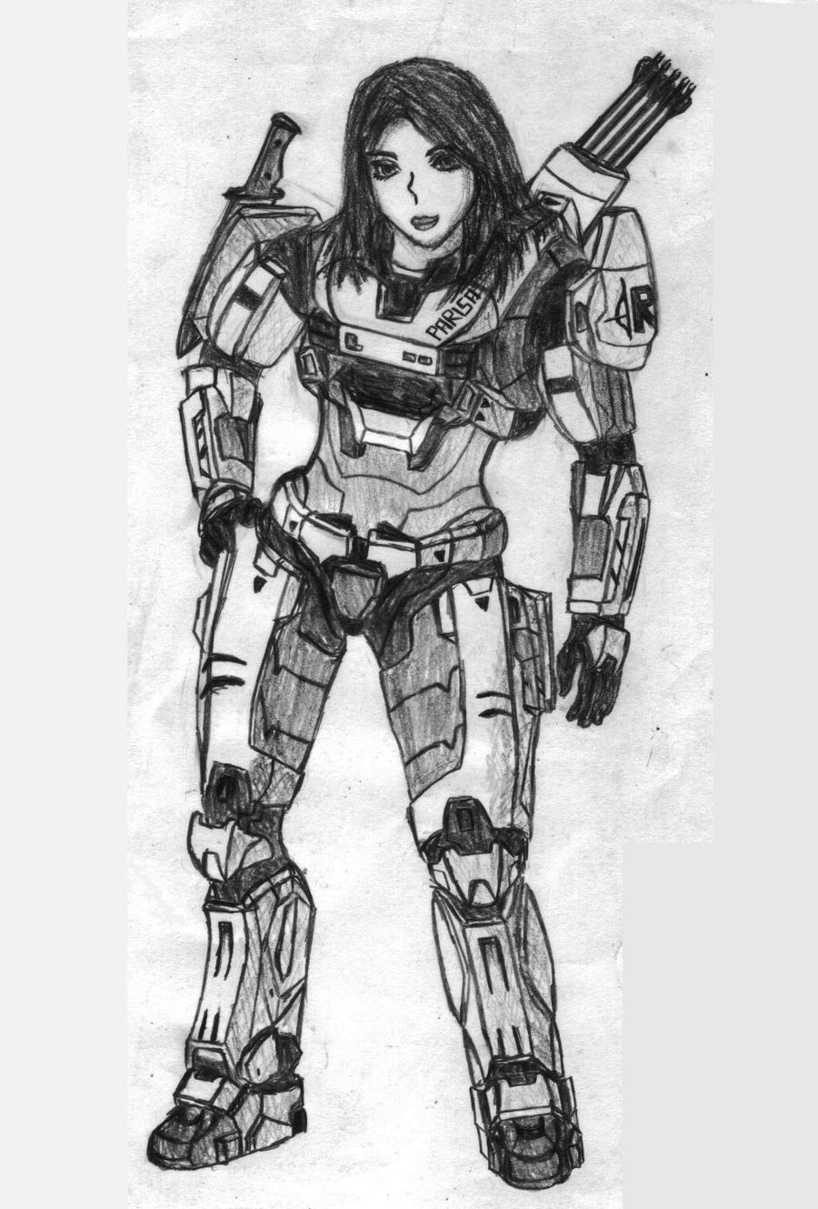 Crossbow Spartan Girl by Sacrafire