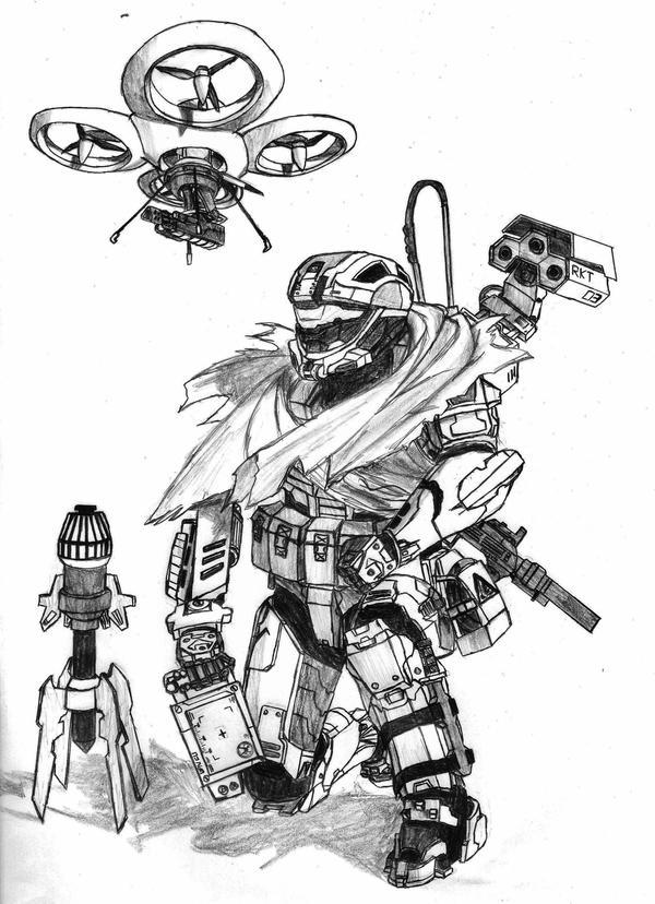 Combat Engineer Spartan by Sacrafire