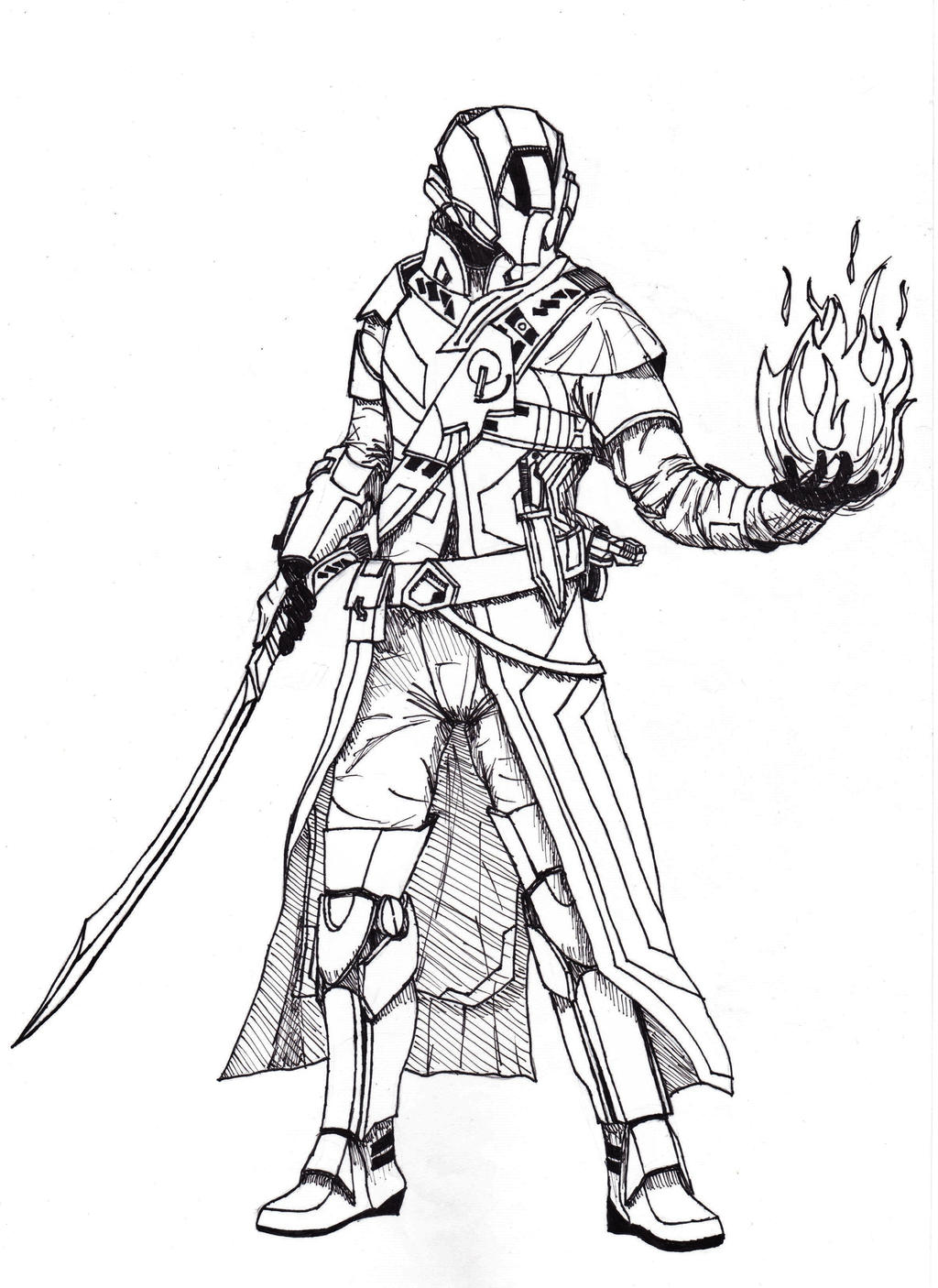 destiny characters hunter coloring pages - photo#20