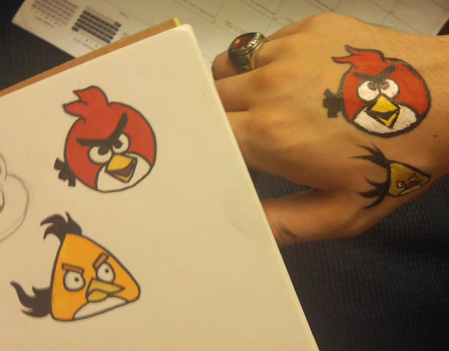 1000 images about face painting characters on pinterest for Angry bird mural