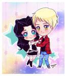 Commission - Simple chibi Selena and Alec