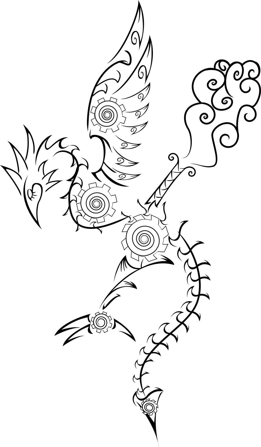 Steampunk Filigree Cockatrice by Sakashima
