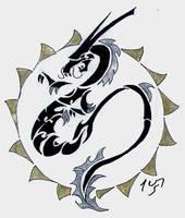 Chinese Tribal: The Dragon by Sakashima