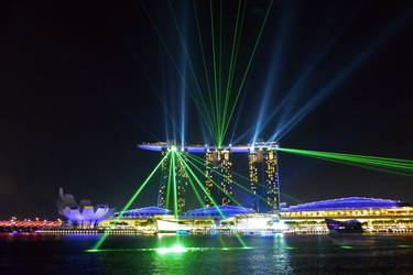 Singapore Light Show by DarthIndy